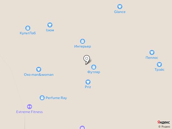 Изюм на карте Новосибирска