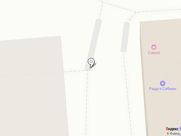 У общаги на карте Новосибирска