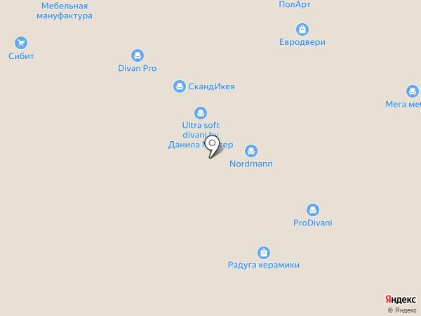 SV-мебель на карте Новосибирска