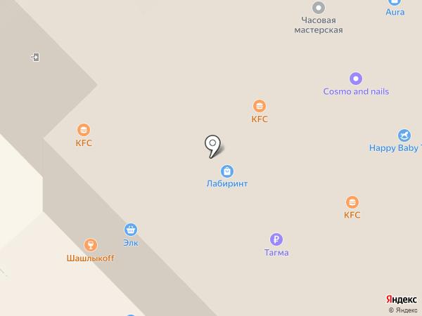 Витрина на карте Новосибирска