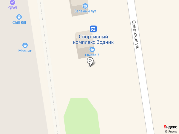 Зеленый луг на карте Новосибирска