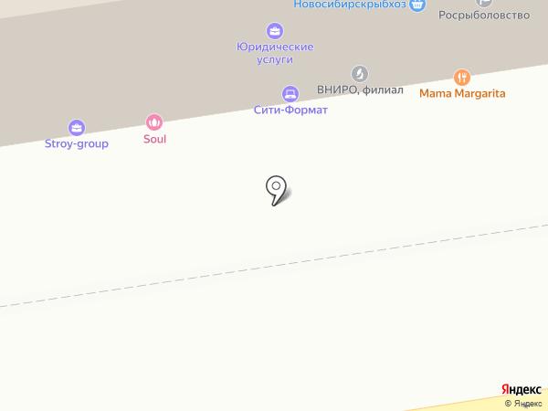 СЦР на карте Новосибирска