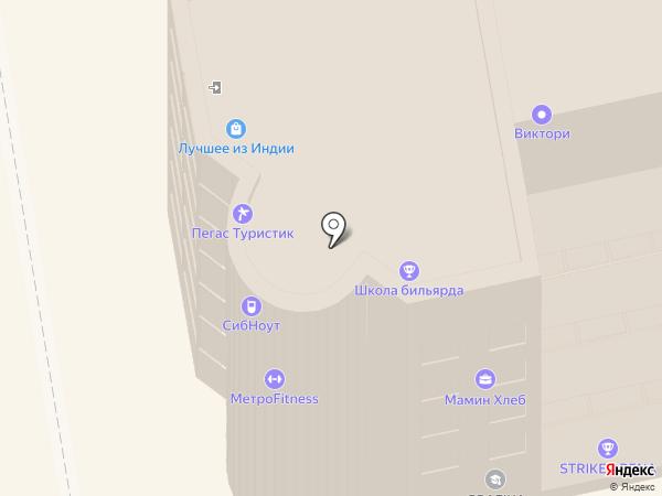 Dussha на карте Новосибирска