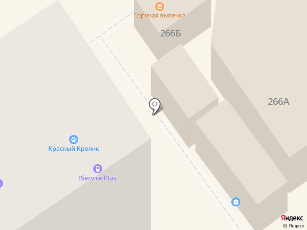 Киоск фастфудной продукции на карте Новосибирска