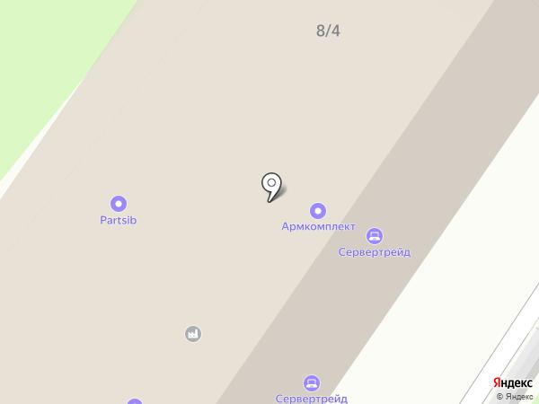 Юна на карте Новосибирска