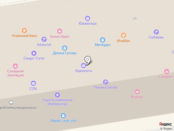 Ананас на карте Новосибирска