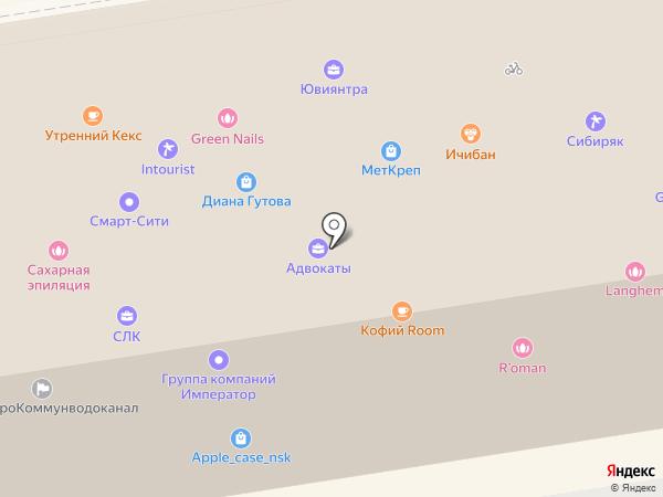 Аструм на карте Новосибирска
