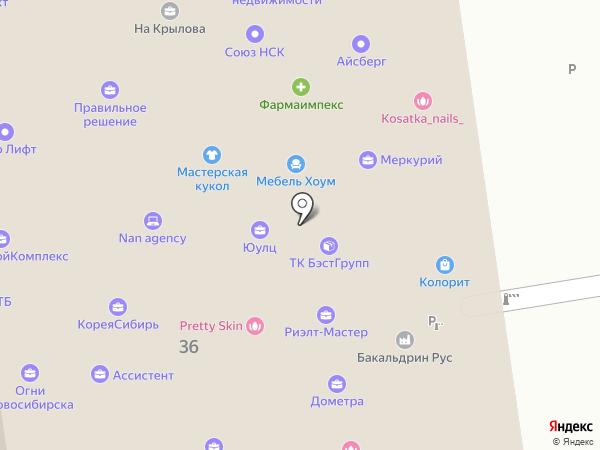 АЛЬТЕР на карте Новосибирска