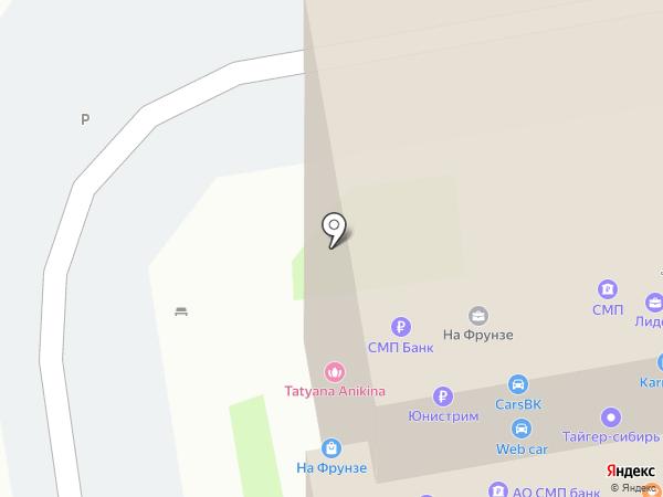 100 Домов-Новосибирск на карте Новосибирска