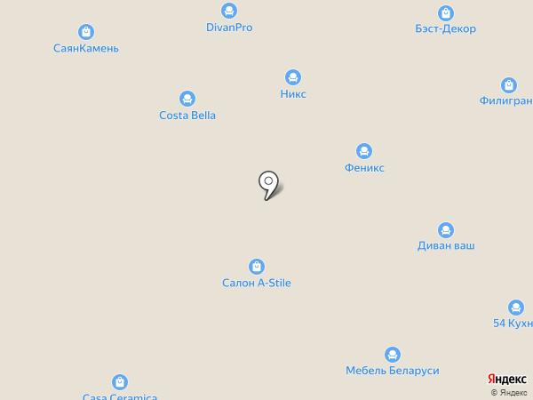 Ника-М на карте Новосибирска