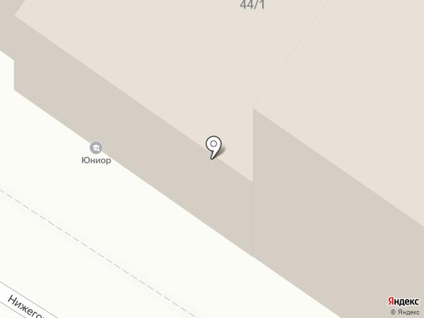 Юниорчик на карте Новосибирска