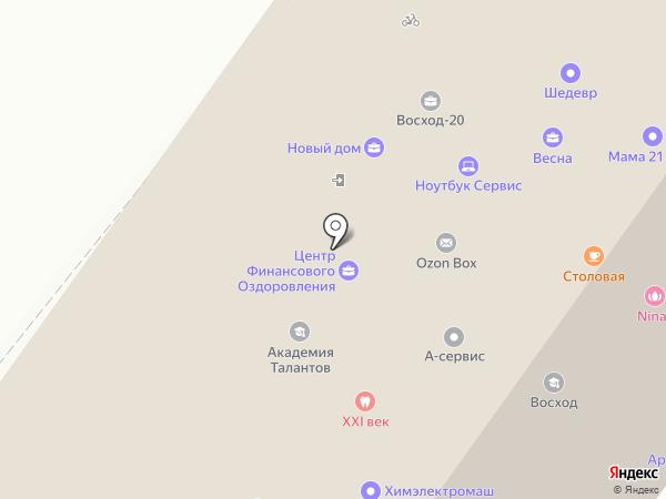 Курсант на карте Новосибирска