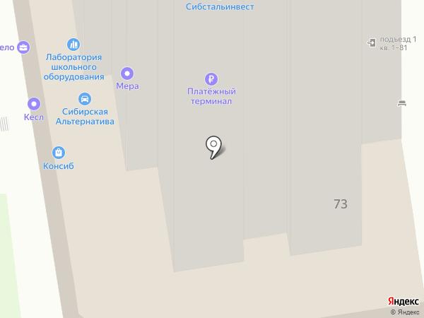 ИДЕАЛ ФИНАНС на карте Новосибирска