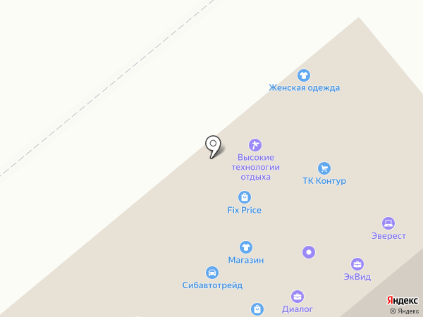 Юридическая компания на карте Новосибирска