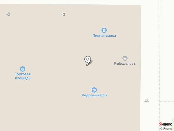 Кедровый бор на карте Краснообска
