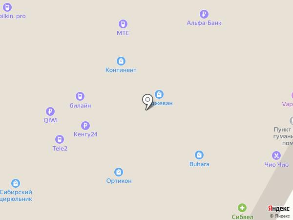 Украшарики на карте Новосибирска