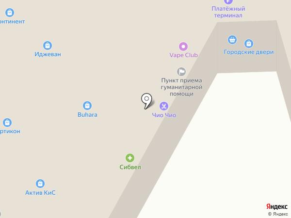 МИО на карте Новосибирска