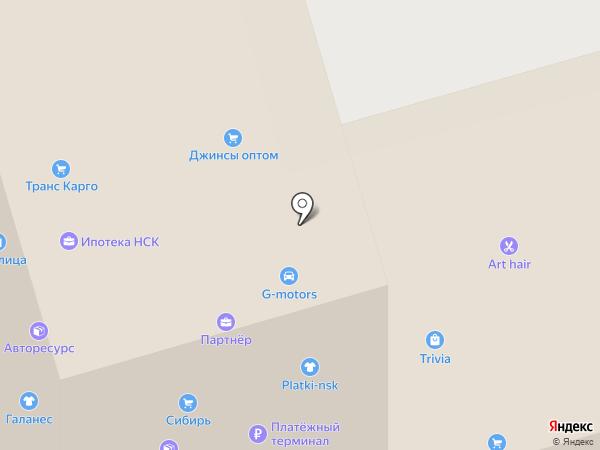 Кафе-закусочная на карте Новосибирска
