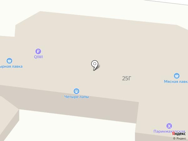 Магазин мясной продукции на карте Бердска