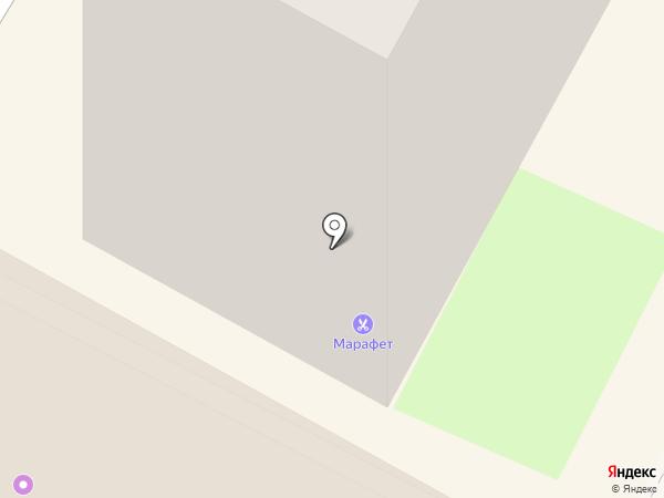 Марафет на карте Бердска