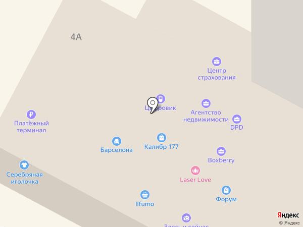 Эримус на карте Бердска
