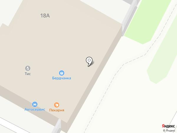 Магазин свежего мяса на карте Бердска