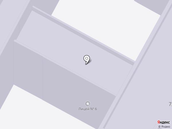 Лицей №6 на карте Бердска