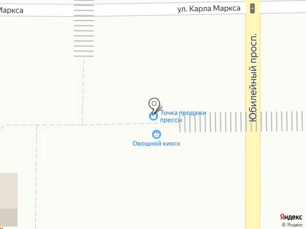 Киоск по продаже печатной продукции на карте Искитима