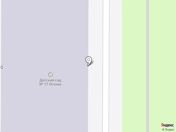 Детский сад №17, Огонек на карте Искитима