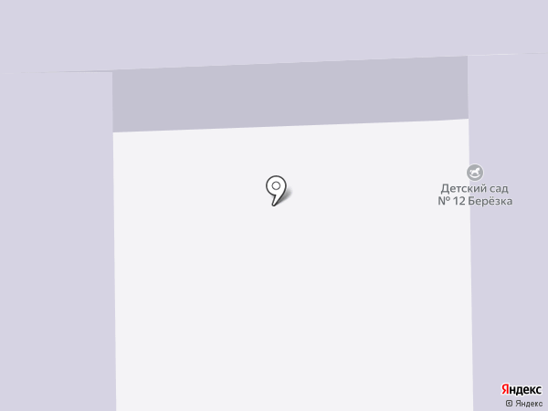 Детский сад №12, Березка на карте Искитима