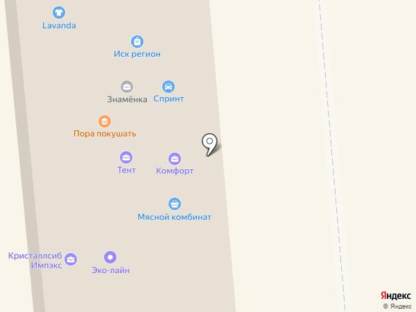 Знамёнка на карте Искитима