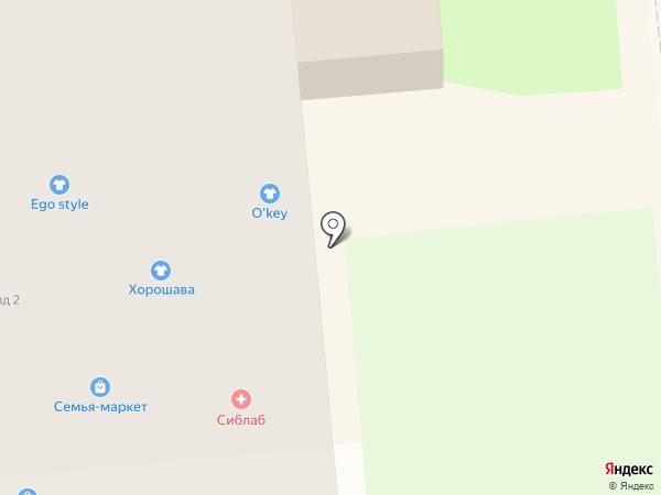 Город на карте Искитима