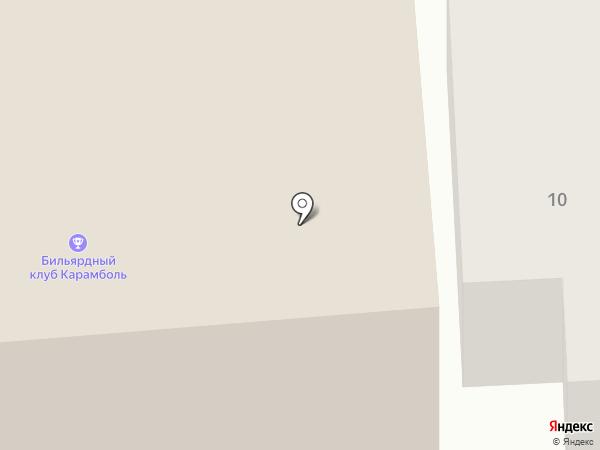 Карамболь на карте Искитима