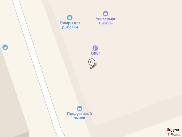 Крош на карте Искитима