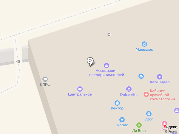 Тенториум на карте Искитима