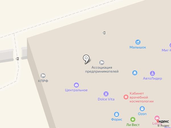 Зеленый Бор на карте Искитима