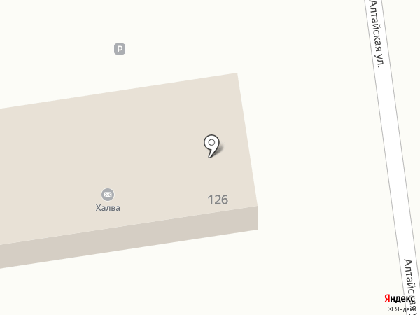 Перекресток на карте Черепаново