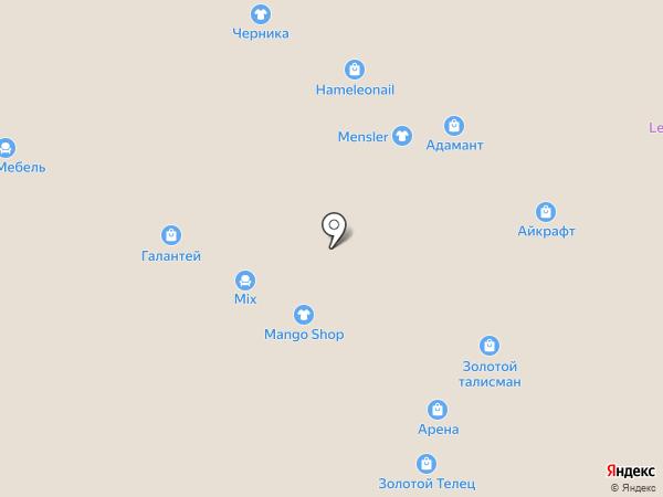 Адамант на карте Барнаула