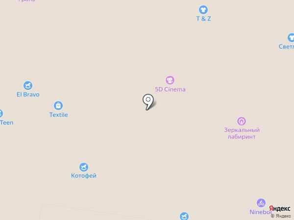 5D на карте Барнаула