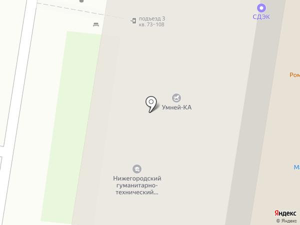 Технополис СЕВЕРНЫЙ на карте Барнаула