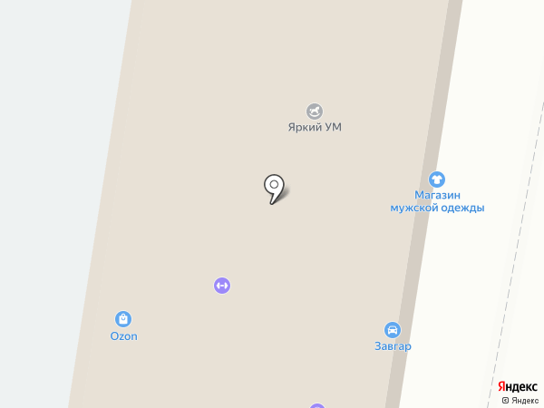 Магазин мужской одежды на карте Барнаула