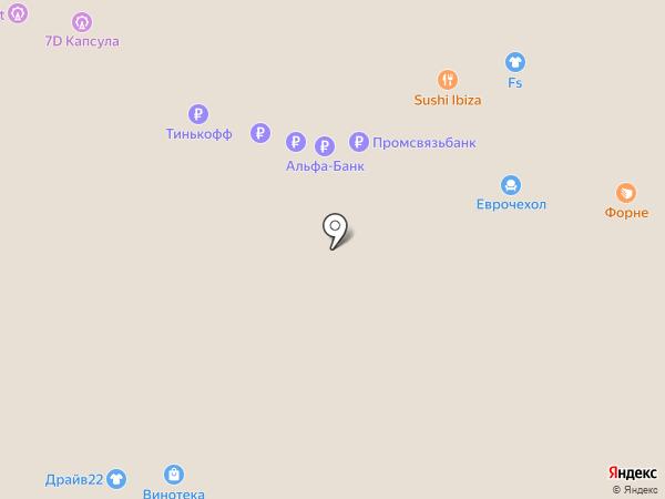 Еврочехол на карте Барнаула