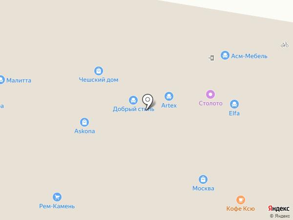 Перфекто на карте Барнаула