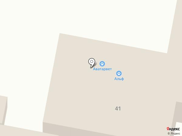 Пеликан на карте Барнаула