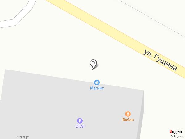 Вобла на карте Барнаула