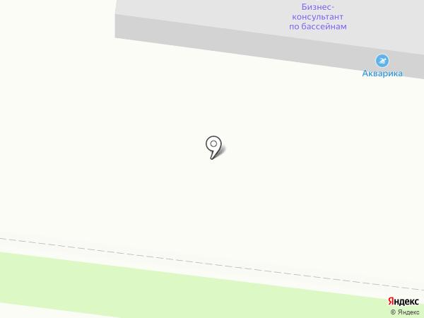 Акварика на карте Барнаула