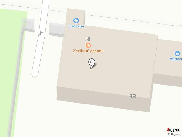 Хлебный дворик на карте Барнаула