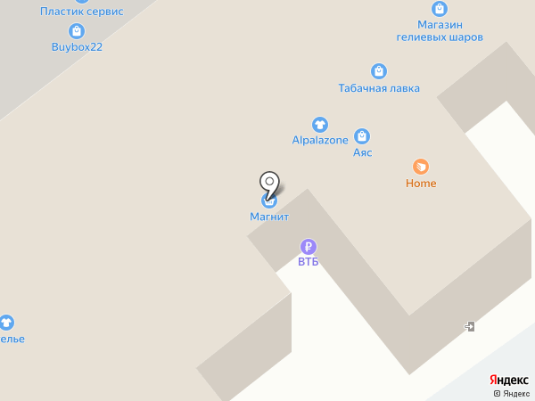 Викториястройинвест на карте Барнаула