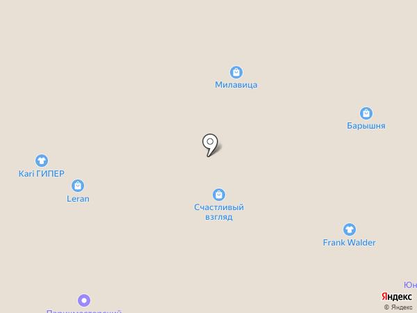 Барышня на карте Барнаула