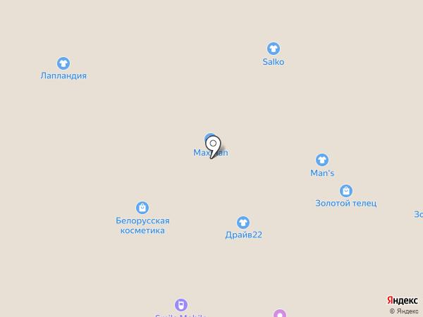 Золотой Телец на карте Барнаула